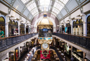 SYDNEY, AUSTRALIA - FEBRUARY 12, 2015: Interior of the Queen Victoria Building in Sidney, Australia. It is a late 19th century building designed by George McRae in the central business district of Sydney.